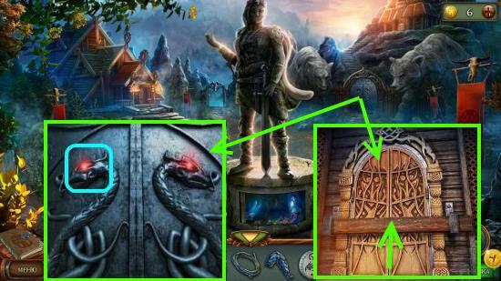 размещаем глаз дракона и снимаем доску в игре наследие 3 дерево силы
