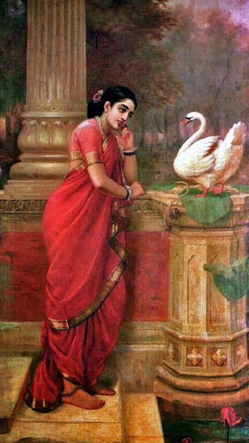 Hansa Damyanti By Raja Ravi Verma