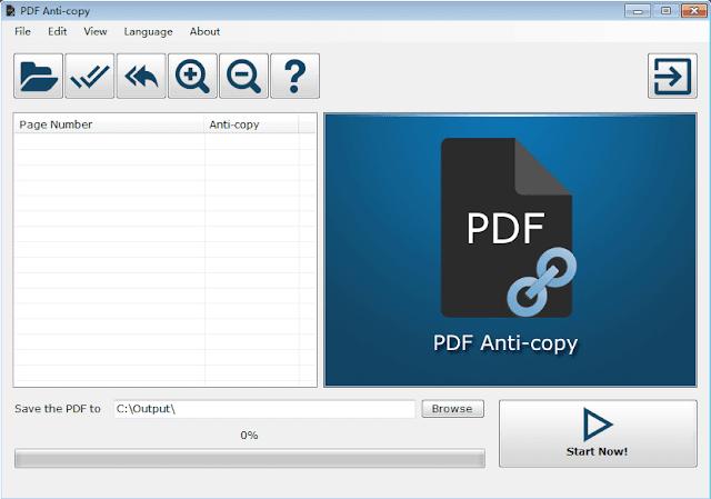 برنامج PDF Anti Copy لمنع نسخ ملفات pdf وحمايتها من السرقة