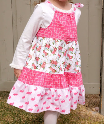 Tiered Pillowcase Dress Tutorial featured by top US sewing blog, Ameroonie Designs