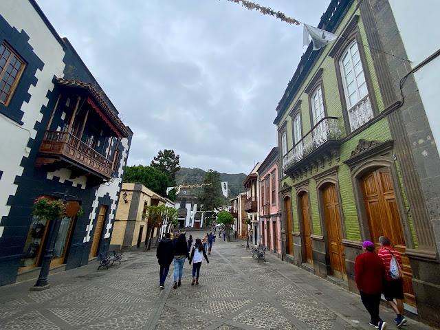 Buildings along the main street in Teror, Gran Canaria, Spain