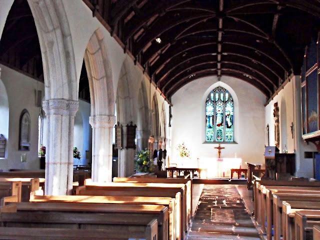 Inside St. Symphorian Chrurch, Veryan, Cornwall