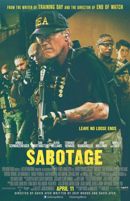 Sabotage (2014) movie review by Glen Tripollo