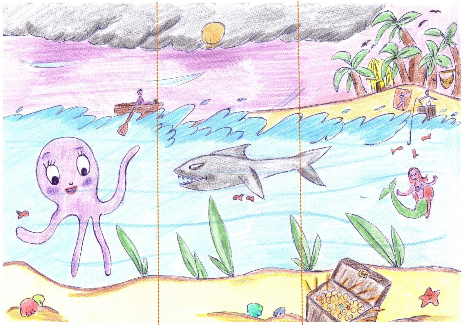 Grafologia marzo 2017 for Disegno paesaggio marino