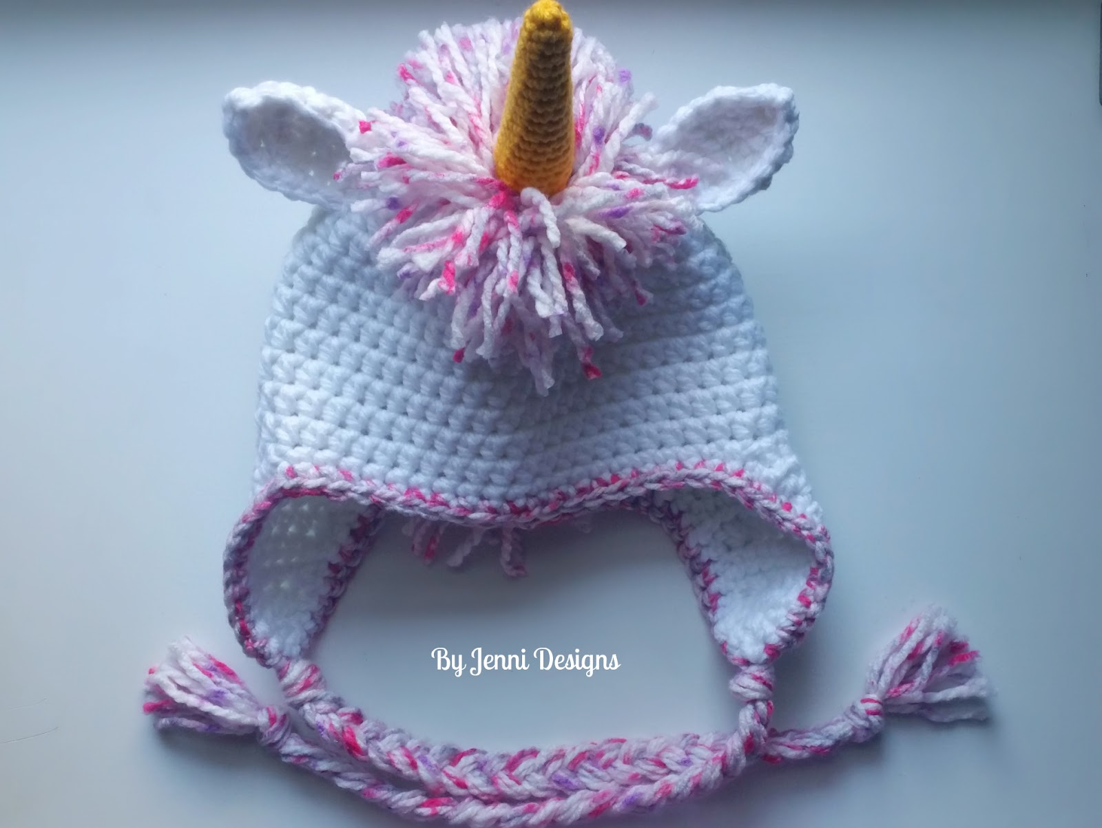By Jenni Designs Free Crochet Pattern Womens Chunky Unicorn Hat