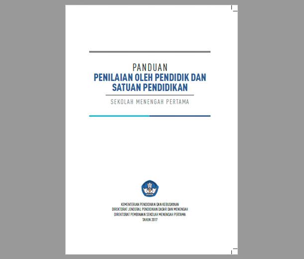 Buku Panduan Penilaian SMP Terbaru Revisi 2017