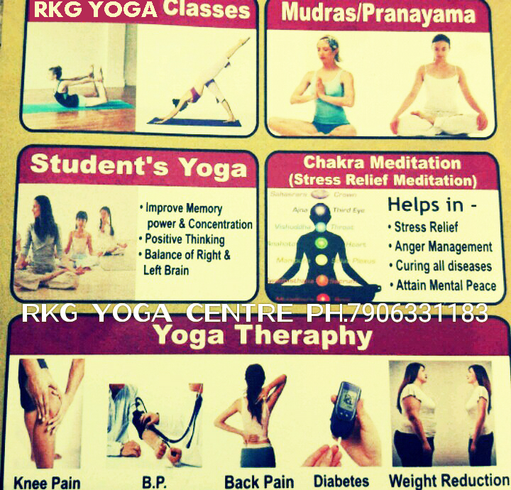 RKG Yoga Pranayam Meditation Weight Loss Slimming Height Gain Accupressure Health Fitness Centre In Bareilly Offer