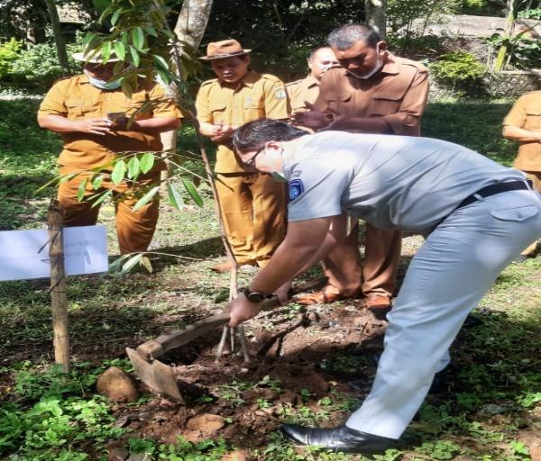 DLH Kota Serang bersama Jasa Raharja Lakukan Penanaman Pohon MPTS