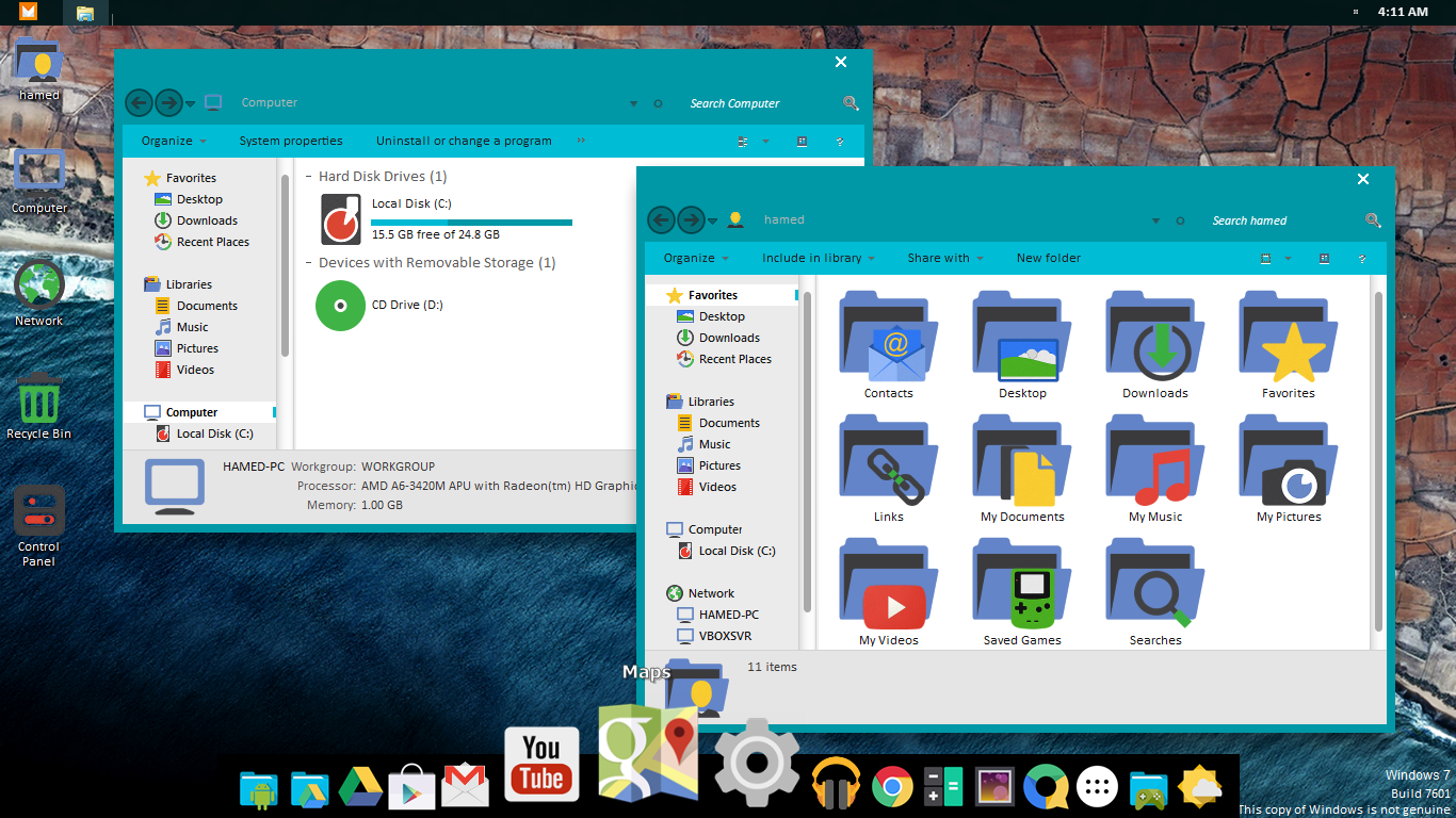 Quicksort: New Android Marshmallow 6 0 Skinpack for Windows 7