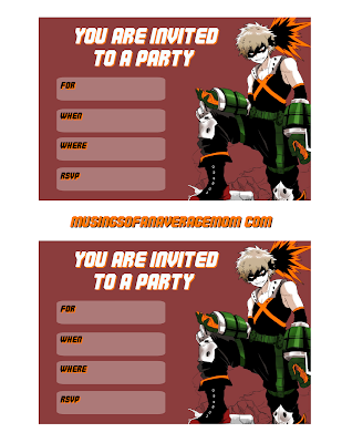 my hero academia birthday party,