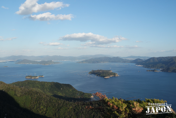 Vue sur la mer intérieure de Seto, observatoire de Shishiiwa, mont Misen, Miyajima