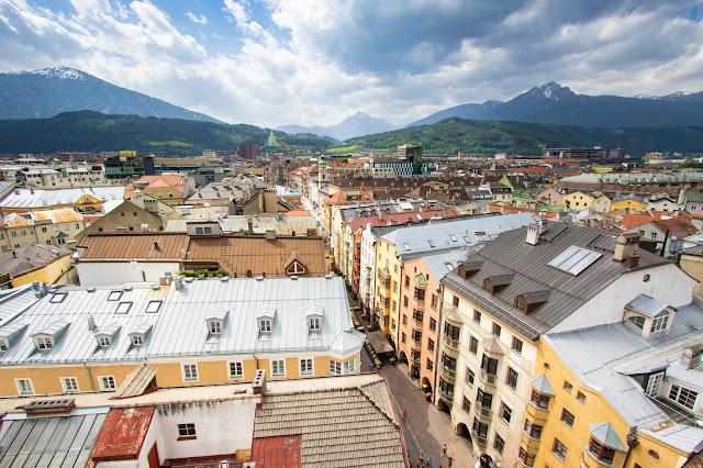 Panorama dalla Stadtturn-Innsbruck