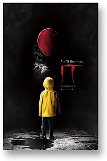Stephen King It 2017, Movie Poster, Pennywise the Clown, Stephen King Store