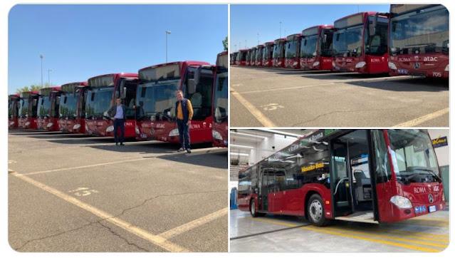 I nuovi bus ibridi per Roma