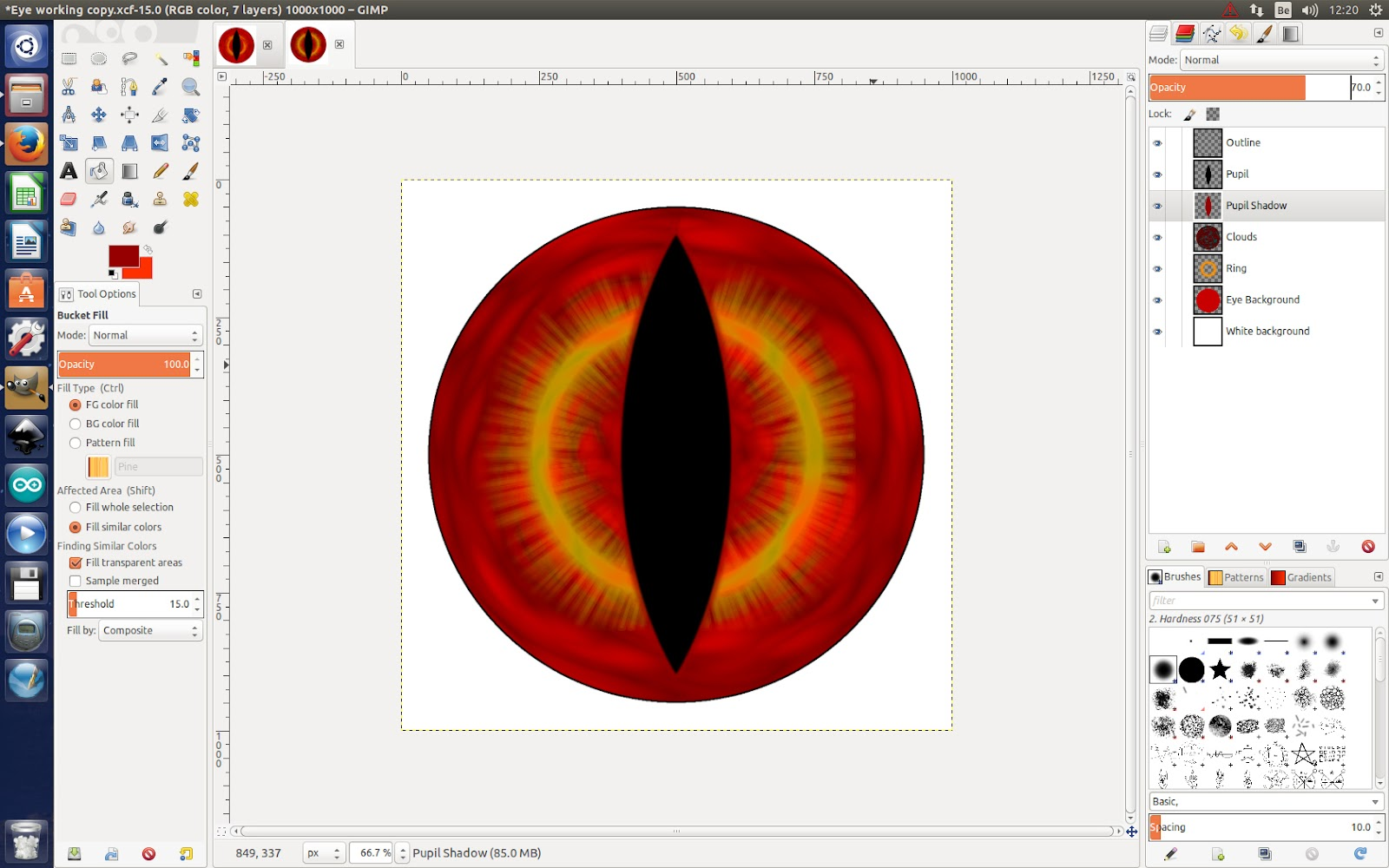 Creating eyes in Gimp ~ Eyeballs Studio
