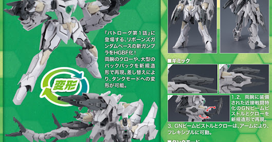 Gundam Build Fighters: Battlogue - CB-9696G/C/T Reversible Gundam HGBF 1/144 (Bandai)