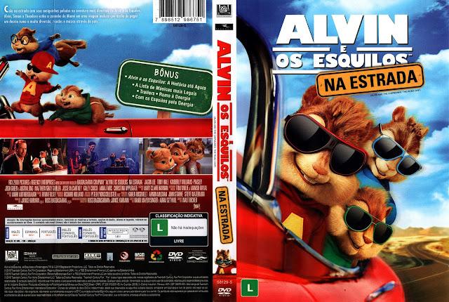 Capa DVD Alvin e os Esquilos na Estrada