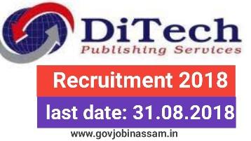 DiTech Publishing Services Pvt Ltd Recruitment 2018: