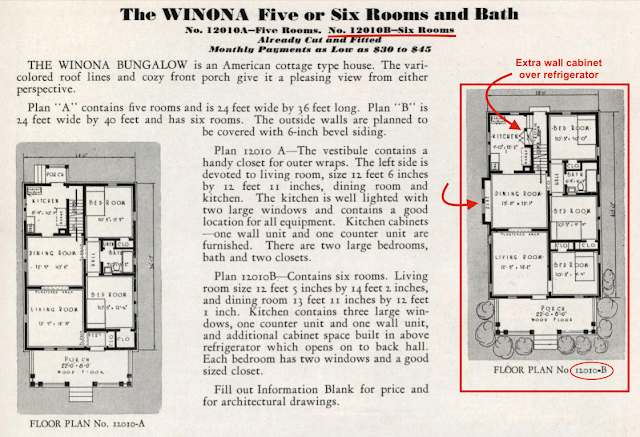 Sears Winona floor plan Sears Modern Homes catalog 1932