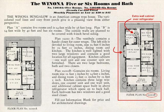 Sears Winona floor plan Sears Modern Homes catalog 1932