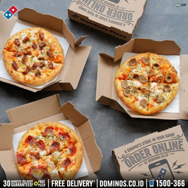 Dominos Pizza Promo 5 Pizza Mania Hanya Rp 70 000 Disc 10 Via Pesan Online Scanharga