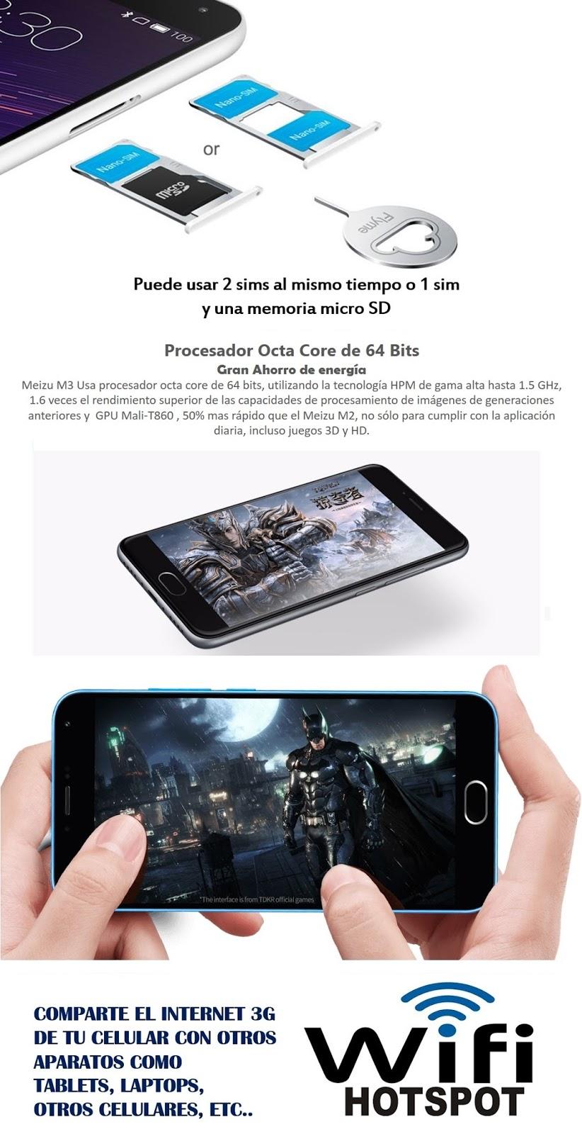 celular meizu M3 mini smartphone android flyme octa core