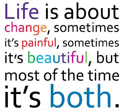 Famous Quotes About Life Changes: life is about change, sometimes it's painful, sometimes it's beautiful,
