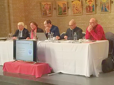 Flemish Journalists Association end of year general meeting at the famous Basilica of Koelkelberg.