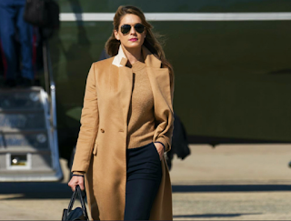 that Hope Hicks, who works so hard without taking a single break