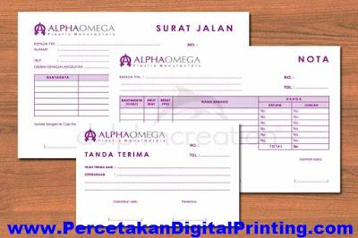 Contoh Desain SURAT JALAN Dari Percetakan Digital Printing Terdekat