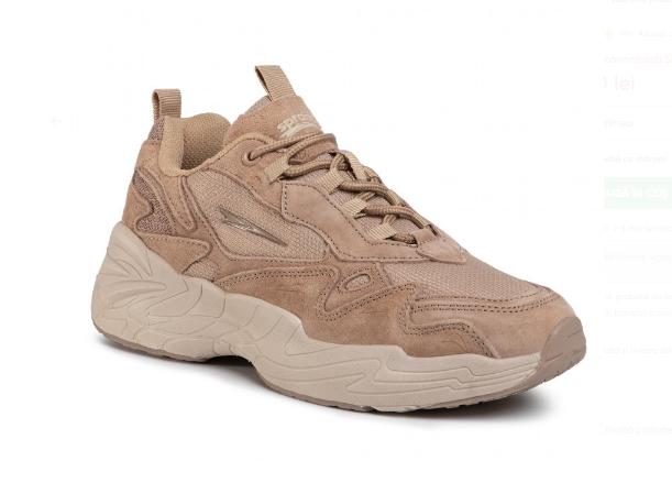 Sneakers SPRANDI roz dinn piele naturala de antilopa la reducere