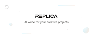 Replica AI voices for your creative projects written in black on white
