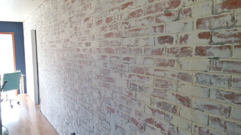 Dining room wall after German schmear
