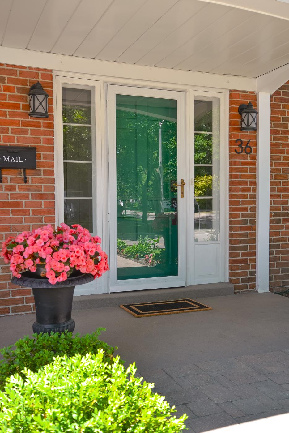 celtic green benjamin moore, green front door