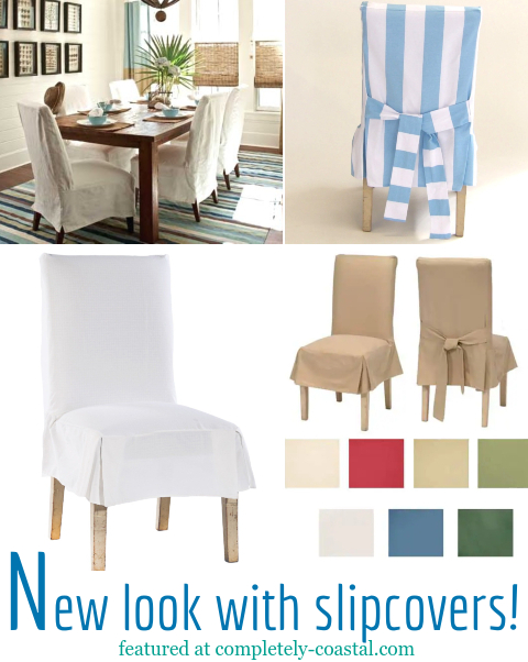 Chair Slipcovers for Coastal Style Living