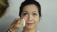 Inner Double Folded Eyelid Makeup -Apply the Color 1 to tear ducts and lower lash line.