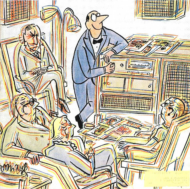 a Peter Whalley 1959 cartoon about loud music