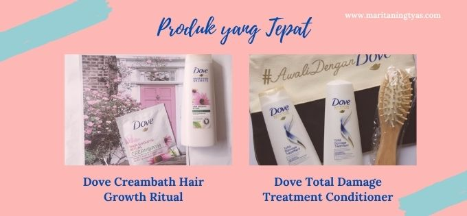 produk Dove untuk rambut lurus