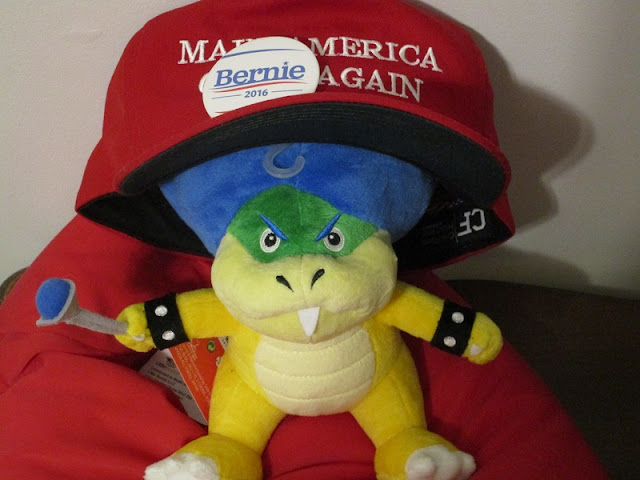 Ludwig Von Koopa Plushie MAKE AMERICA GREAT AGAIN Donald Trump red hat Bernie 2016 pin Koopaling