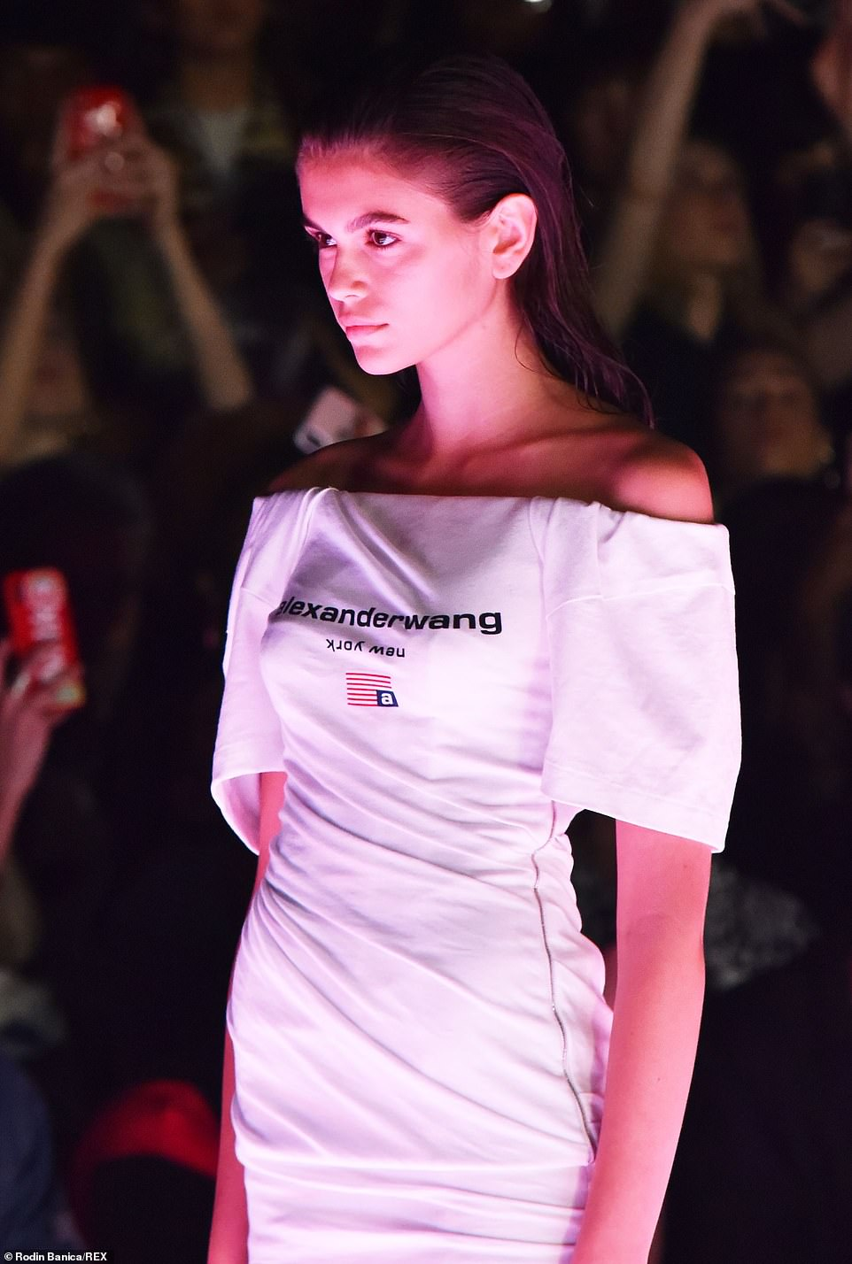 Kaia Gerber Walks Alexander Wang Collection 1 Fashion Show in NYC