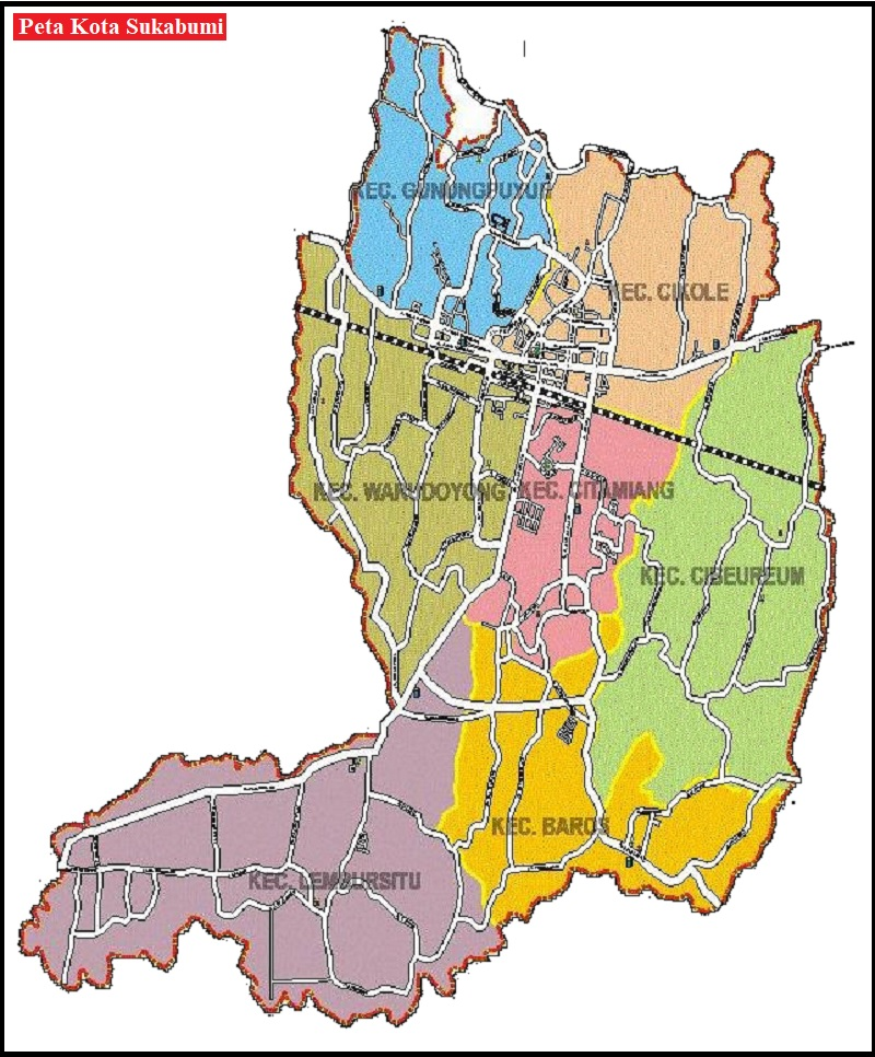 Peta Kota Sukabumi