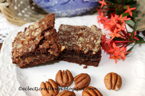 Use a brownie mix and Kraft Bits to make these gooey bars.