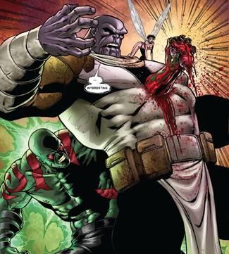 Drax asesina a Thanos en Annihilation