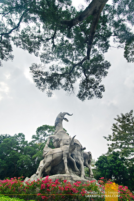 Yuexiu Park Five Rams Statue Guangzhou China