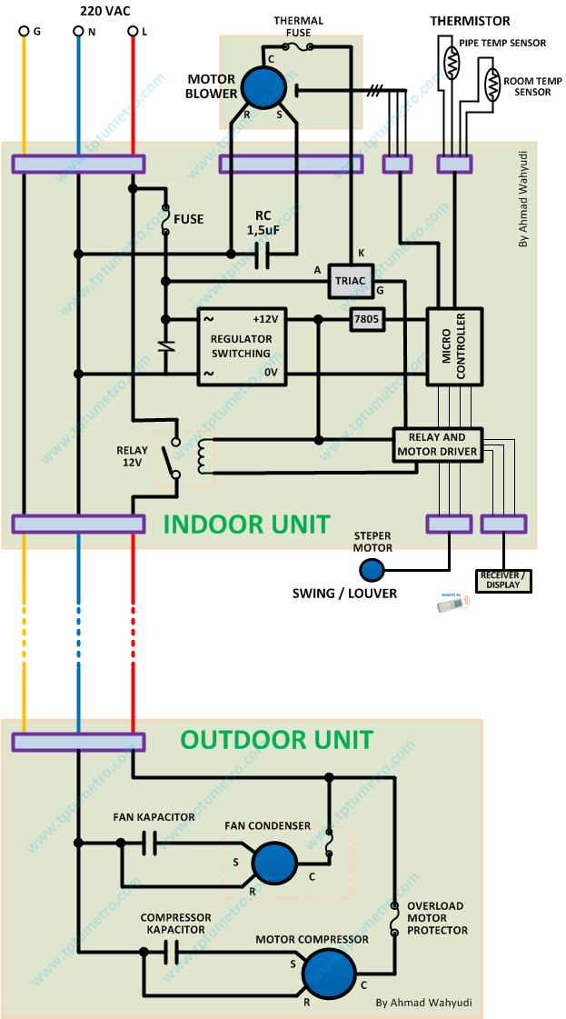 wiring diagram for split ac unit  msd crank trigger