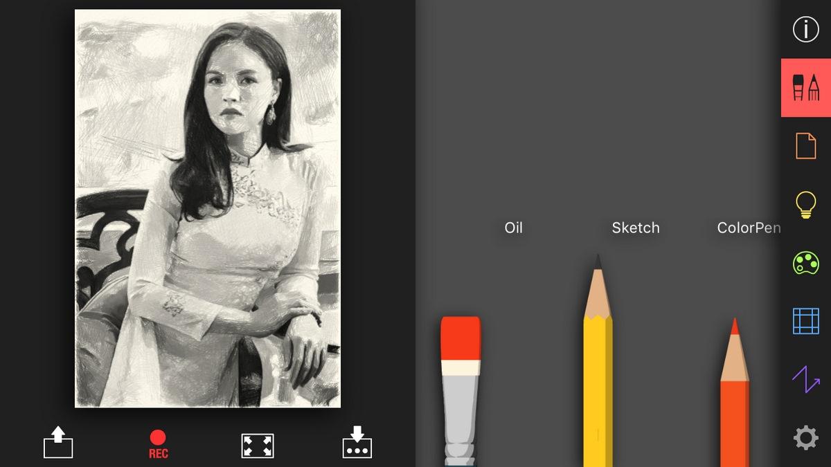 Cách chuyển ảnh thành tranh vẽ chì chibi