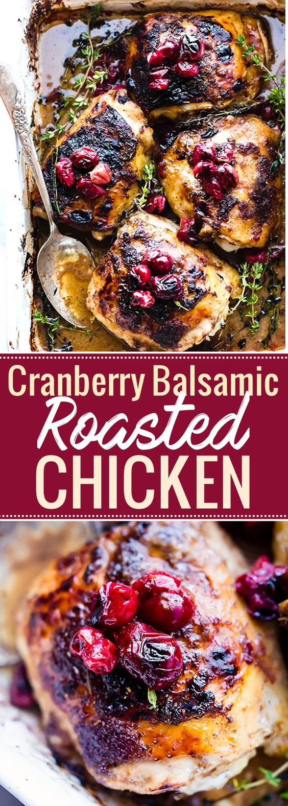 Cranberry Balsamic Roasted Chicken