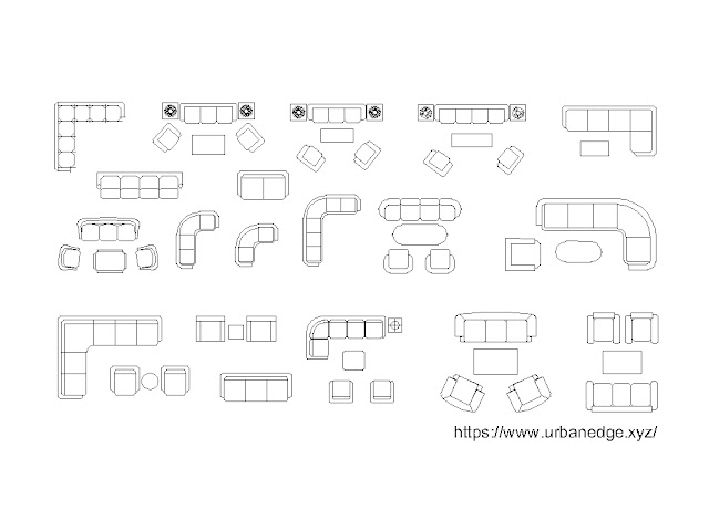 sofa cad blocks, 20+ Couches, and sofas in plan cad blocks download