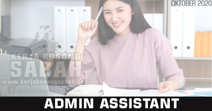 Kerja Kosong Sabah 2020 | ADMIN ASSISTANT - Bongawan