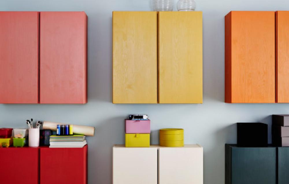 Beautiful restyling colorato per il mobile ivar di ikea - Colorare i mobili ...
